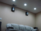 After - Recessed cans were installed to eliminate the fan light kit. Recessed cans really updated the entire room.